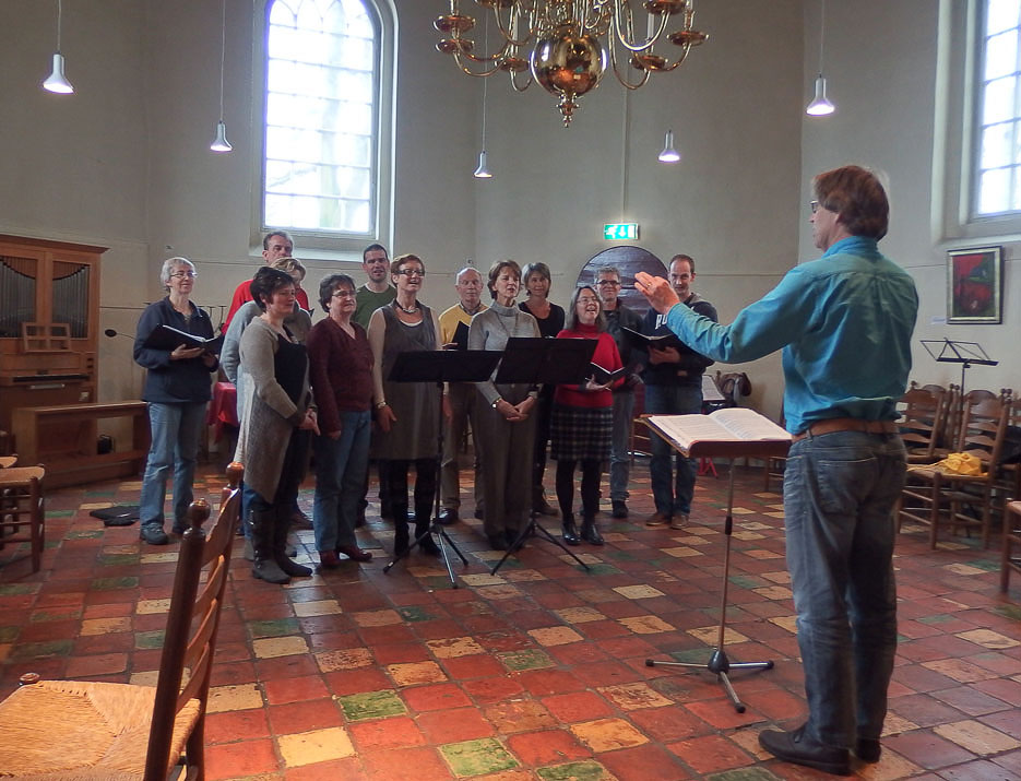 Repeteren in Kerkje Peize