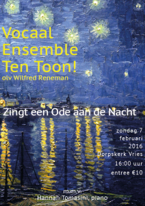 Flyer concert TenToon februari 2016
